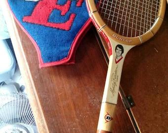 Vintage Marty Riessen Dunlop Tennis Racquet