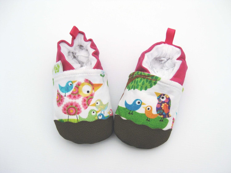 classic vegan bird talk non slip soft sole baby shoes made