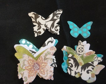 Assorted Pattern Paper - Butterfly - Die cuts