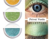 Eyeshadow Kit Palette | PRIVET VERDE | Mix - Match - Layer | Natural Mineral Eye Colors | Natural Eco Pure Organic Better Than MAC Cosmetics