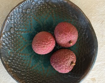 Ceramic Bowls in Turquoise - dinnerware ceramic plates - organic shaped icecream Bowls