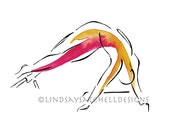 Pilates art print - Snake Pose