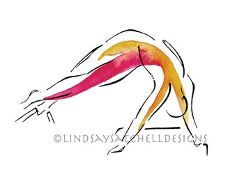 Snake Pose | Pilates Art Print, Pilates Gift, Pilates Studio Decor, Inspiration Art, Gifts, Pilates Inspiration