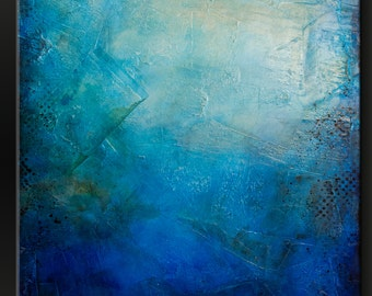 Deep Blue - 30 x 40 - Abstract Acrylic Painting on Canvas - Fine Art Contemporary Modern Wall Art