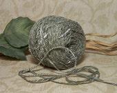 Pesto Faded Sage Green Yarn, Soft Tape, Ribbon Yarn, Green, White, Year Round Perfect Yarn,  BIN 22