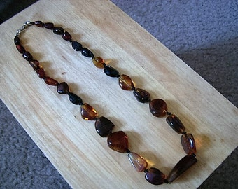 Natural Chiapas Red Amber Necklace