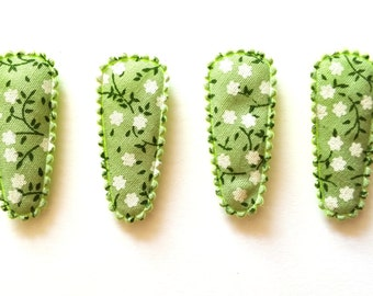 25 pcs - Green Color Florist Flower Hair Clip COVERS - size 35 mm