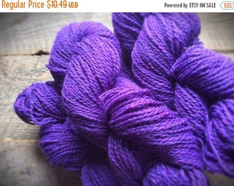 Yarn sale Purple wool for knitting yarn - worsted weight - Peace Fleece - Brenda's Purple - violet - yarn shop