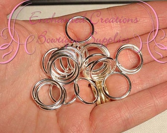16mm Silver Open Jump Rings  50pcs