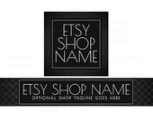 Etsy Shop Banners - Etsy Banners - Black Etsy Shop Banner - Geometric Etsy Shop Banners - Etsy Banner Sets - 2 Piece - -16