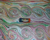 "carta marmorizzata , hand marbled paper, Marmorpapier, Papel marmolado, Papier marbrè, ,  19,5"" x 27,3"" -  cm 50 X 70  - 853"