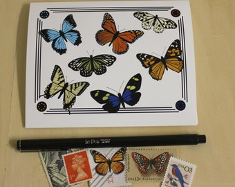 Butterfly Specimen Notecards - Boxed Set of 4