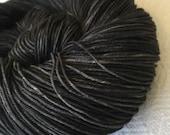 Hand Dyed Sock Yarn Gunpowder Charcoal Gray Black Hand Painted sockyarn 463 yards hand dyed fingering weight Treasured Toes