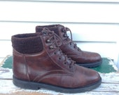 Brown Hiking Boots, Lace Up Boots, Brown Leather Boots, Ankle Boots Size 9 Us, 40 EU, 7 UK, Clarks Boots Brown High Tops, Womens Boots 9