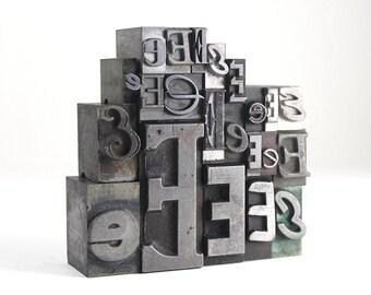 Letter E Set - Vintage Metal Letterpress
