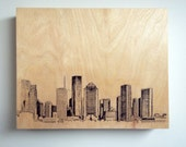 Wood Wall Art Panel Houston Skyline Art on Wood Customize Your Colors And Size Houston Art Cityscape Skyline On Wood Panel Wall Decor