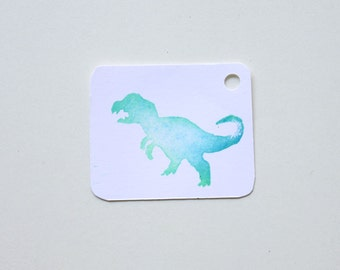 DINOSAUR favour tags, gift tags, thank you tags, DINOSAUR favour bag tags X 10