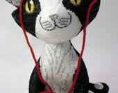 Maurice the Tuxedo Cat Doll 3D Cross Stitch Animal Sewing Pattern PDF