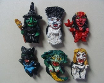 She-Monster Refrigerator Magnets set A(Cutie style/Full-body)