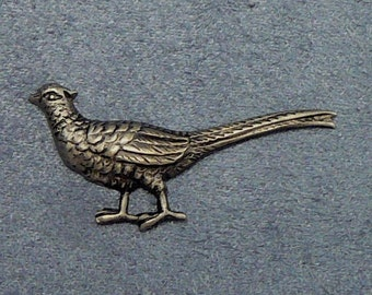Vintage Quail Pin Bird Stickpin Gamebird