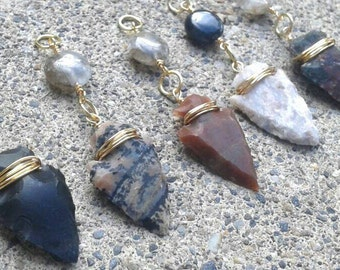 Arrowhead Necklace, Dainty Necklace, Gold Chain Necklace, Native American Necklace, Indie Necklace, Small Arrowhead [LBNK01A]