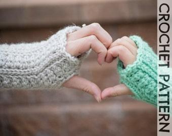 CROCHET PATTERN: Backcountry Fingerless Gloves - All sizes