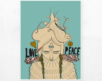 Love & Peace Print