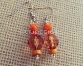 Orange Summer Earrings