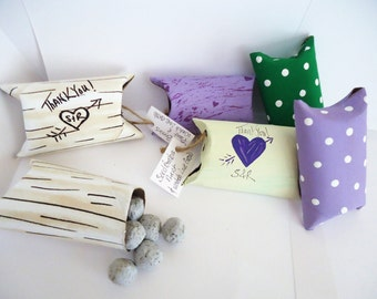 250 Wildflower Mix Plantable Seed Bombs Favors in upcycled Pillow boxes