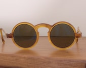 Antique Child's Celluloid Sunglasses..Round Framed Kid's Sunglasses..Photo or Movie Prop