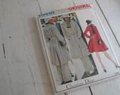 Vintage Sewing Pattern Vogue 1095 Pants Skirt Coat Size 14 Paris Original