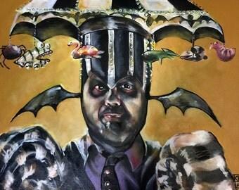 Fan Art Beetlejuice The Ghost with the Most Art Print  Nerdy Artwork Pop Art Portrait