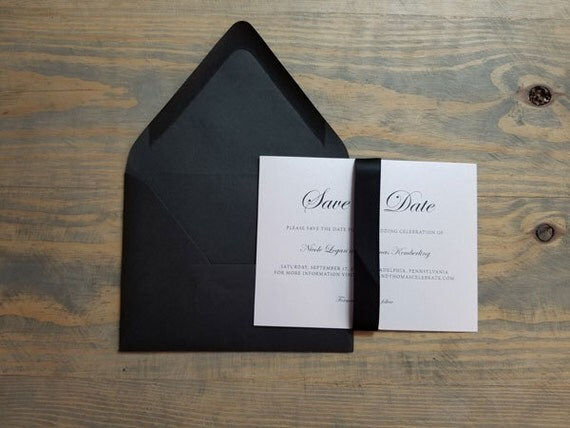 black save the date, modern save the date, classic save the date, shimmer save the date, shimmer, black