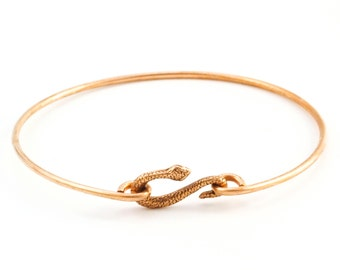 Bronze Single Asymmetrical Snake Bangle