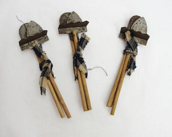 Miniature garden tools, miniature shovel, miniature rake 3 sets