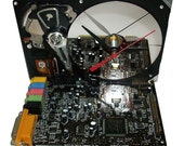 "FREE SHIPPING USA! Awesome ""Sound Blaster"" Circuit Board Hard Drive Clock. You Rocker?"