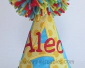 Birthday Hat with Initial and Name