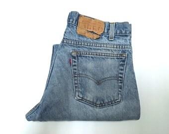 Vintage Men's 80's Levi's Jeans, Blue, Denim, Light Wash (W30 x L31)