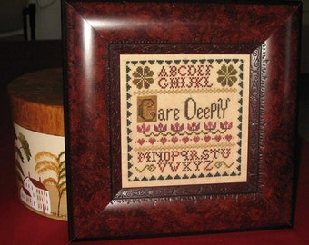 Care Deeply - Cross Stitch Pattern by ABBY ROSE DESIGNS Sampler