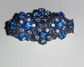 Blue Alligator Clip, Upcycled, Recycled, Repurposed, NEW ITEM, Hair Clips, Hair Accessories, Vintage Jewelry