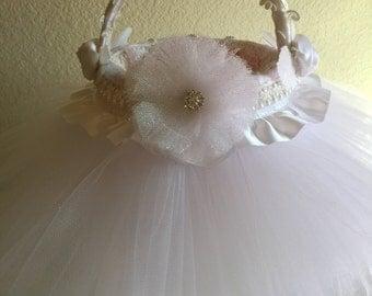 Handmade Flower Girl Basket