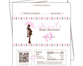 Digital Print it Yourself PIY Baby Shower candy wrappers/Candy Wrappers/Hershey Candy Bar Wrappers/Shower Wrappers/Chocolate Bar Wrappers