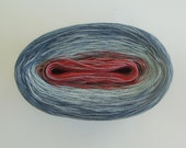 BLUE JEAN MEDLEY  Color Changing Cotton yarn  480 yards/100 gr  Fingering Weight