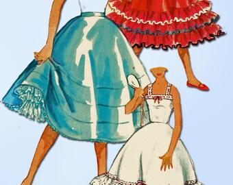1950s Vintage Misses Slip & Petticoat Uncut 1954 Simplicity Sewing Pattern Sz 14