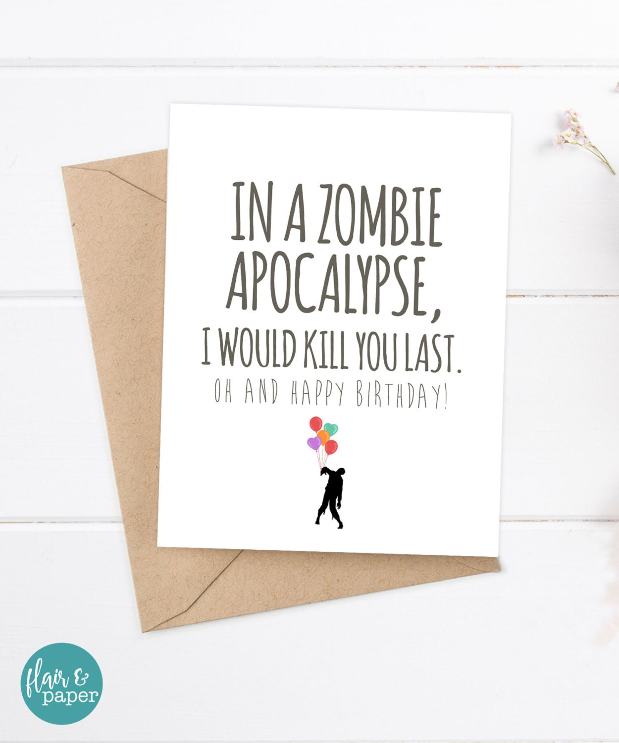 Birthday Card Boyfriend Birthday Card For Him Birthday: Boyfriend Card Funny Birthday Card Zombie Card Snarky