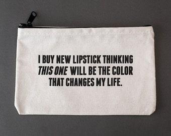lipstick zipper pouch. #085