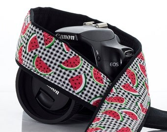Watermelon dSLR Camera Strap, SLR, Plaid, Red, 098