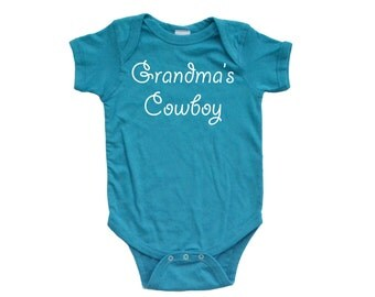 Apericots Grandma's Cowboy Charming Cute Baby Soft Cotton Country Boy Western Creeper