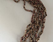 RARE  Antique Metal Cut Beads  - Made in France