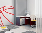 Basketball Line Sports Removable Vinyl Wall Decal